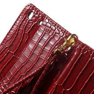 Croco peněženkové pouzdro na mobil Sony Xperia M5 - červené - 7