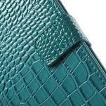 Croco peněženkové pouzdro na mobil Sony Xperia M5 - modré - 7/7