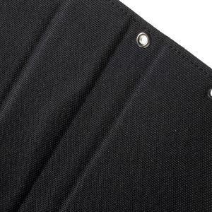 Canvas PU kožené / textilné puzdro pre Sony Xperia M5 - čierne - 7