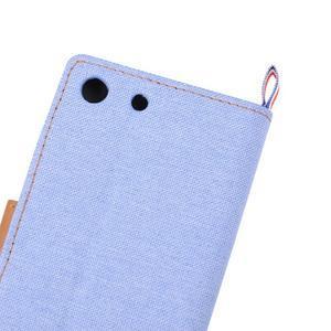 Jeans peňaženkové puzdro pre mobil Sony Xperia M5 - svetlomodré - 7