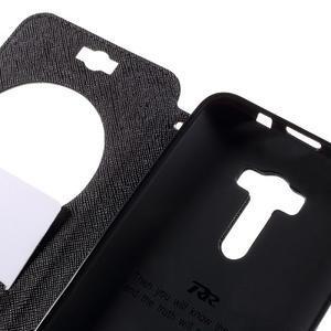 Peňaženkové puzdro s okýnkem na Asus Zenfone Selfie ZD551KL - čierné - 7