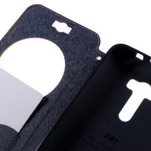Peňaženkové puzdro s okýnkem na Asus Zenfone Selfie ZD551KL - oranžové - 7