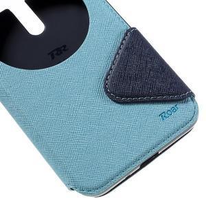 Peňaženkové puzdro s okienkom pre Asus Zenfone Selfie ZD551KL - svetlo modré - 7