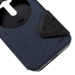 Peňaženkové puzdro s okýnkem na Asus Zenfone Selfie ZD551KL - tmavo modré - 7