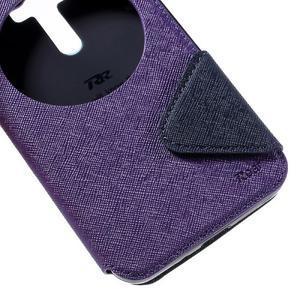 Peňaženkové puzdro s okýnkem na Asus Zenfone Selfie ZD551KL - fialové - 7