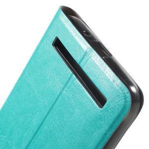 Horse peňaženkové puzdro na Asus Zenfone Selfie ZD551KL - modré - 7
