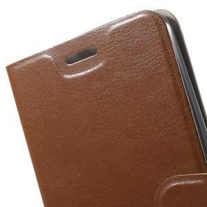 Horse peňaženkové puzdro na Asus Zenfone Selfie ZD551KL - hnedé - 7