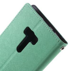 Mr. Goos peňaženkové puzdro pre Asus Zenfone Selfie ZD551KL - cyan - 7