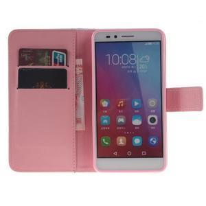 Peněženkové pouzdro pro mobil Honor 5X - barevná peříčka - 7