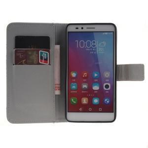 Peněženkové pouzdro pro mobil Honor 5X - retro květina - 7