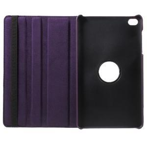 Otočné polohovateľné puzdro na Huawei MediaPad M2 - fialové - 7