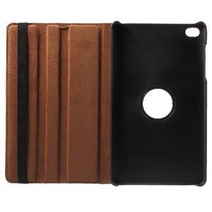 Otočné polohovateľné puzdro na Huawei MediaPad M2 - tmavohnedé - 7