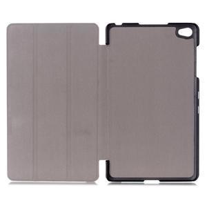 Trifold polohovateľné puzdro na tablet Huawei MediaPad M2 8.0 - fialové - 7