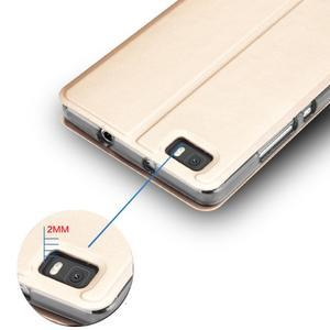 Vintage PU kožené pouzdro na Huawei P8 Lite - zlaté - 7