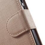Clothy PU kožené pouzdro na mobil Huawei P8 Lite - champagne - 7/7