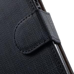 Clothy PU kožené pouzdro na mobil Huawei P8 Lite - tmavěmodré - 7