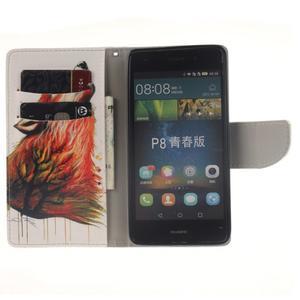 Leathy PU kožené pouzdro na Huawei P8 Lite - magický vlk - 7