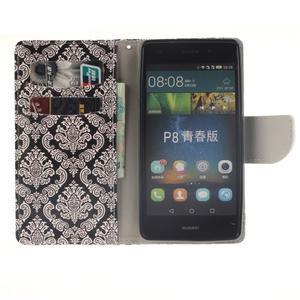 Leathy PU kožené pouzdro na Huawei P8 Lite - damask - 7