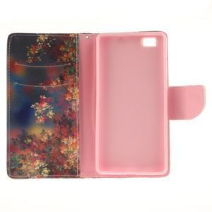 Leathy PU kožené pouzdro na Huawei P8 Lite - podzimní zátiší - 7