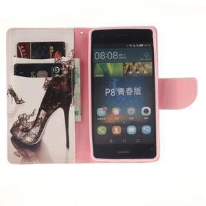 Leathy PU kožené pouzdro na Huawei P8 Lite - pekelný střevíc - 7