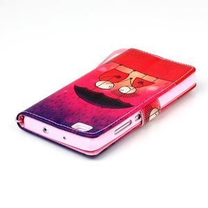 Picture PU kožené pouzdro na Huawei P8 Lite - láska v dešti - 7