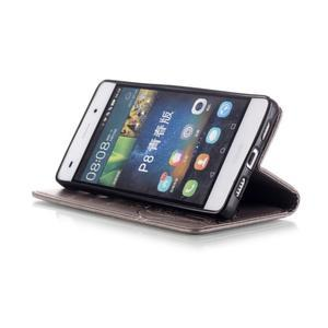 Magicfly PU kožené puzdro na Huawei P8 Lite - sivé - 7