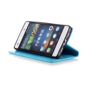 Magicfly PU kožené pouzdro na Huawei P8 Lite - modré - 7
