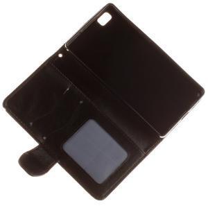 Mandala PU kožené puzdro na mobil Huawei P8 Lite - čierne - 7