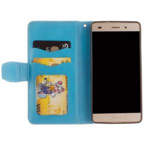 Mandala PU kožené pouzdro na mobil Huawei P8 Lite - modré - 7