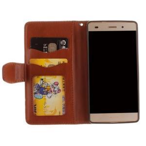 Mandala PU kožené pouzdro na mobil Huawei P8 Lite - hnědé - 7