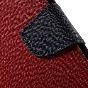 Diary PU kožené pouzdro na mobil Huawei P9 - červené - 7
