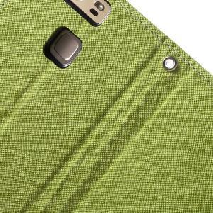 Diary PU kožené pouzdro na mobil Huawei P9 - zelené - 7
