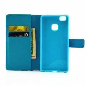 Knížkové pouzdro na mobil Huawei P9 Lite - kapky vody - 7