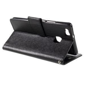 Easy peněženkové pouzdro na mobil Huawei P9 Lite - černé - 7