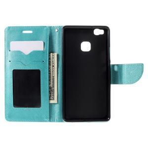 Easy peňaženkové puzdro na mobil Huawei P9 Lite - modré - 7