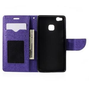 Easy peňaženkové puzdro na mobil Huawei P9 Lite - fialové - 7
