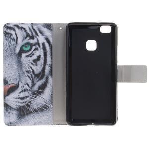 Floaty peňaženkové puzdro na mobil Huawei P9 Lite - tiger - 7