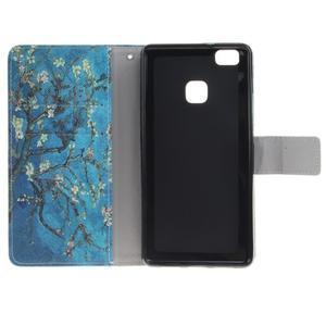 Floaty peňaženkové puzdro na mobil Huawei P9 Lite - kvitnúci strom - 7