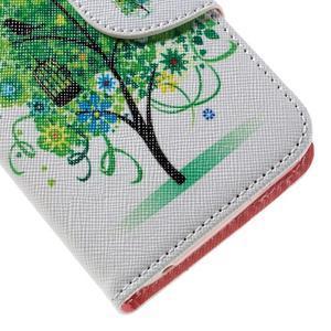 Emotive PU kožené puzdro na Huawei Y5 - zelený strom - 7