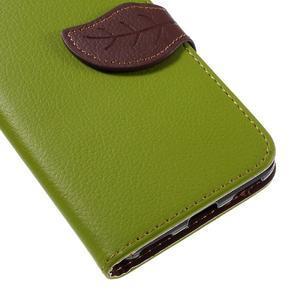 Leaf PU kožené pouzdro na mobil Huawei Y6 - zelené - 7