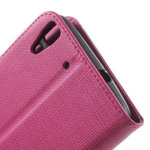 Clothy PU kožené pouzdro na Huawei Y6 - rose - 7