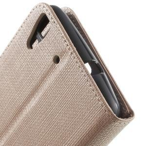 Clothy PU kožené pouzdro na Huawei Y6 - champagne - 7