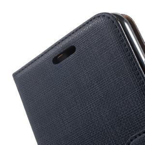 Clothy PU kožené pouzdro na Huawei Y6 - tmavěmodré - 7