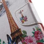 Emotive pouzdro na mobil Huawei Y6 - květiny a Eiffelka - 7/7