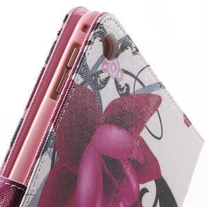 Stylové pouzdro na iPad mini 4 - fialový květ - 7