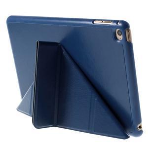 Origami polhovatelné pouzdro na iPad mini 4 - tmavěmodré - 7