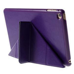 Origami polhovatelné pouzdro na iPad mini 4 - fialové - 7
