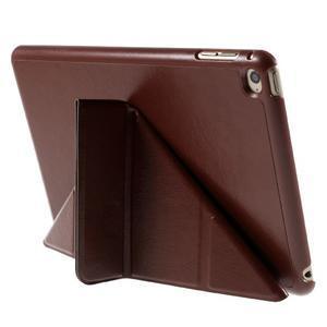 Origami polhovatelné pouzdro na iPad mini 4 - hnědé - 7