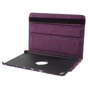 Cyrc otočné puzdro pre iPad mini 4 - fialové - 7