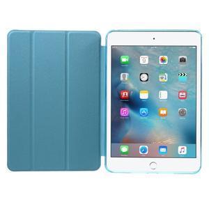 Trifold trojpolohový puzdro pre tablet iPad mini 4 - modré - 7